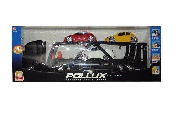 Caminhão Pollux 30-360 Transcar Speedy Vegas Cegonha - Silmar Brinquedos