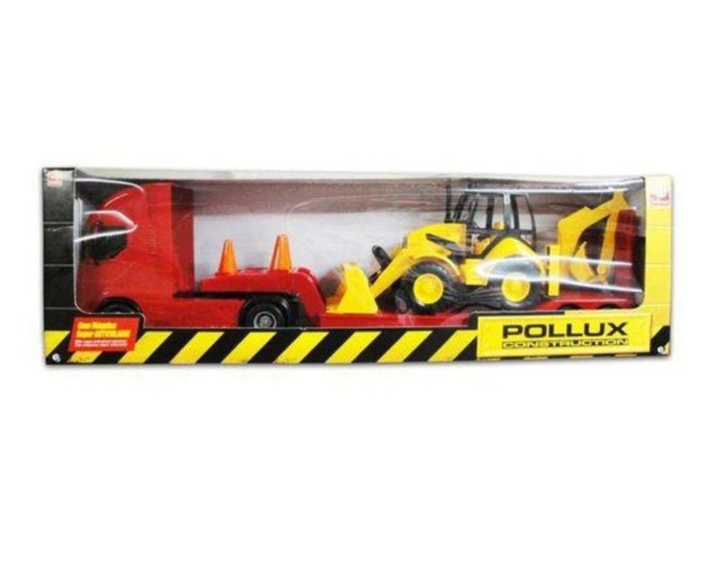 Caminhão Pollux Construction com Trator - Silmar Brinquedos