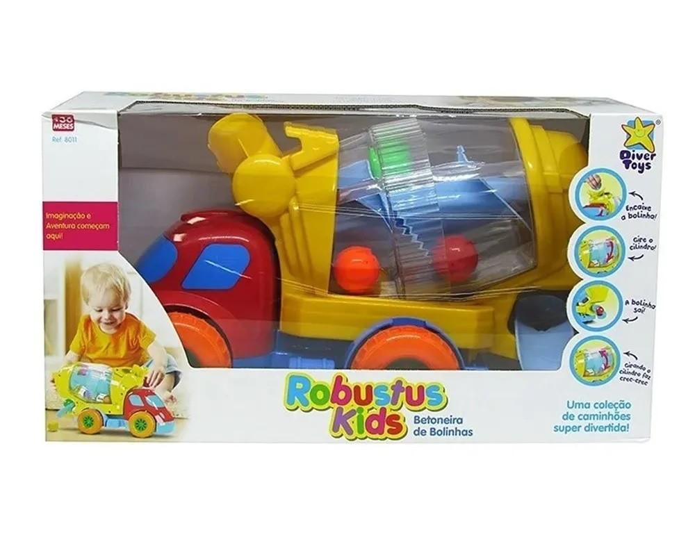 Caminhão Robustus Kids Betoneira de Bolinhas - Diver Toys
