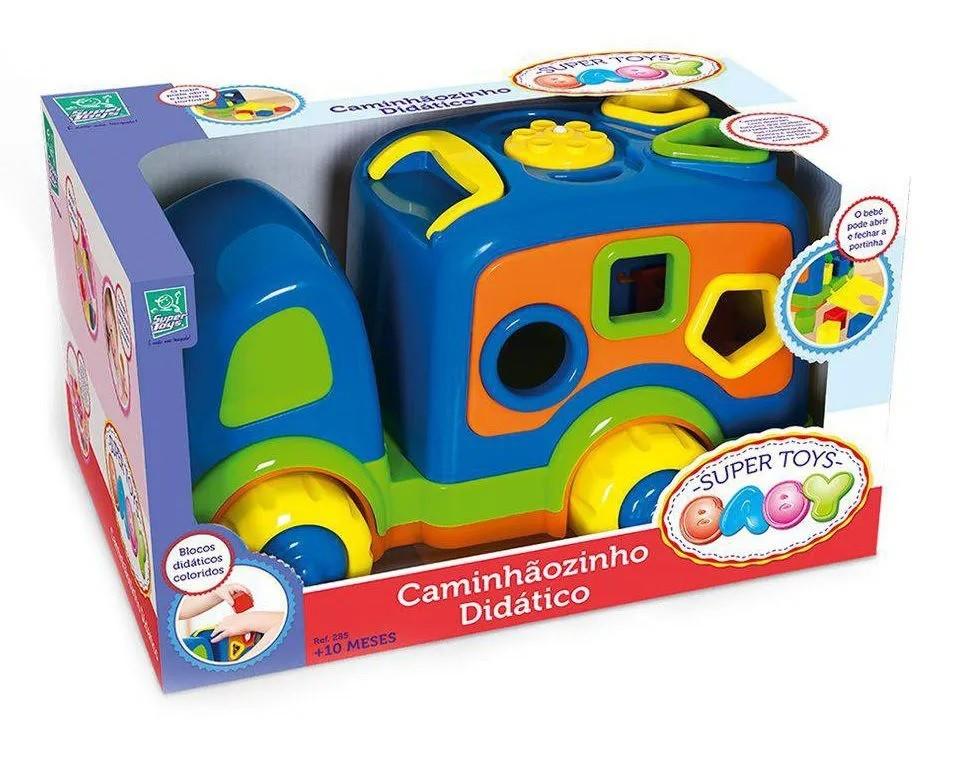 Caminhãozinho Didático For Baby Azul - Super Toys