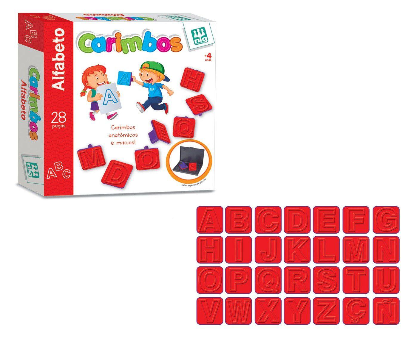 Carimbos Alfabeto 28 Peças - Nig Brinquedos