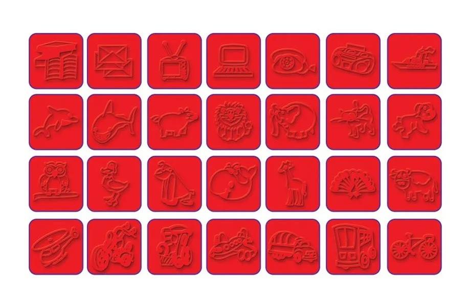 Carimbos Figuras 28 Peças - Nig Brinquedos