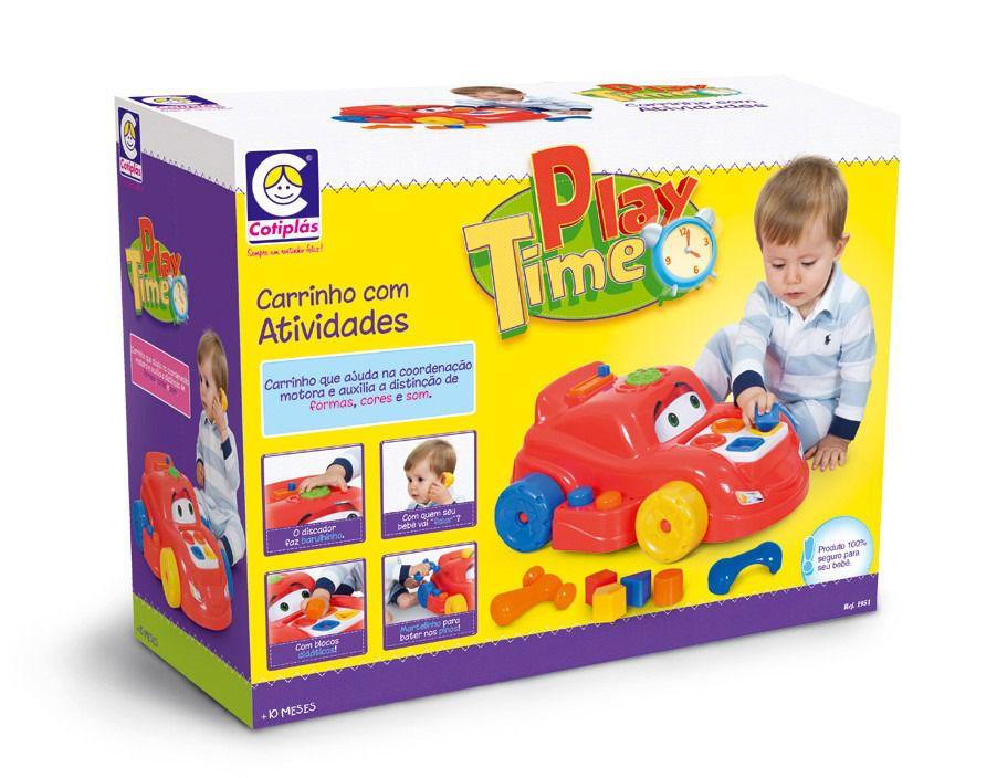Carrinho com Atividades Play Time - Cotiplás