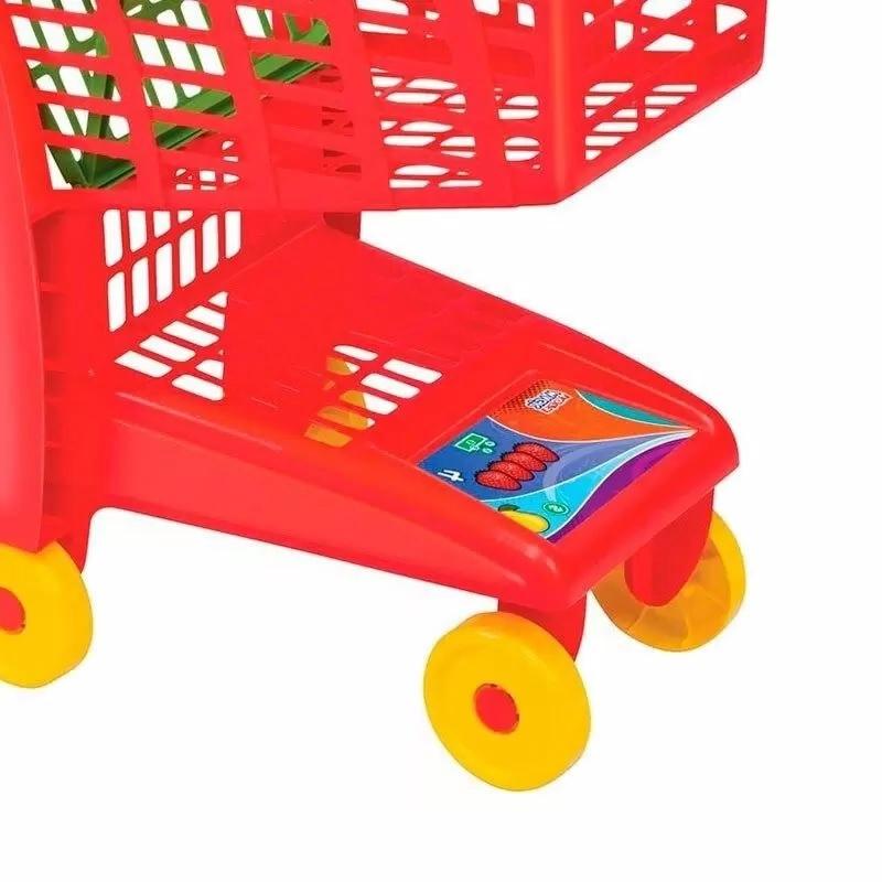 Carrinho de Compra Market Vermelho - Magic Toys