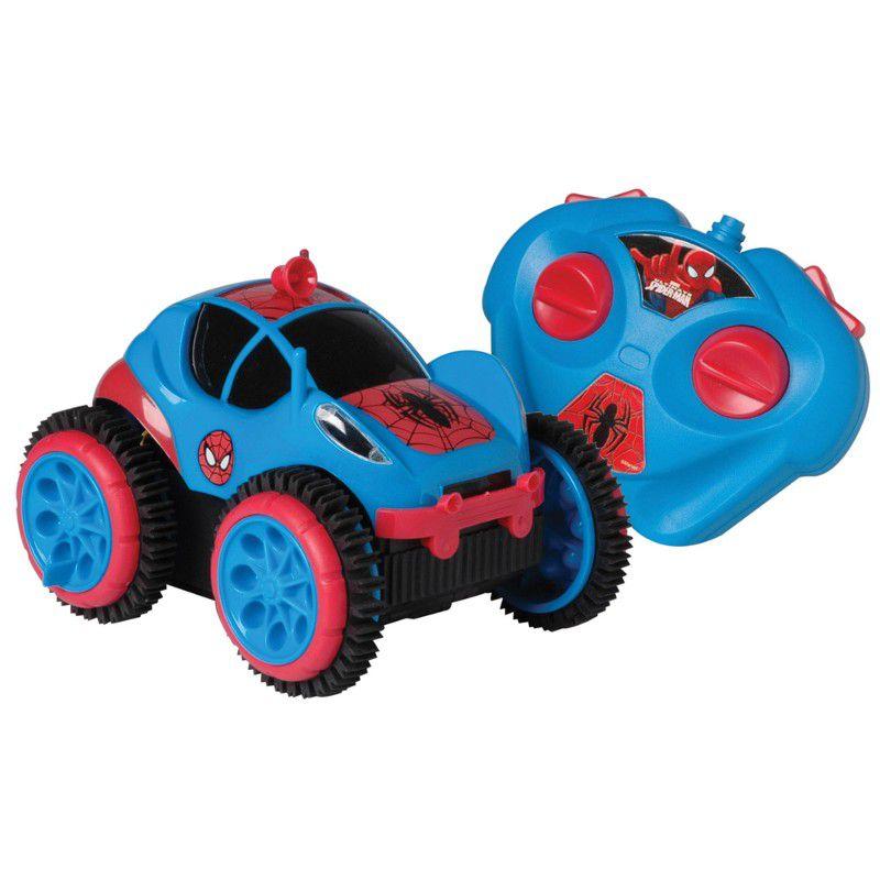 Carrinho de Controle Remoto Spider Flip Marvel Spider Man Disney - Candide
