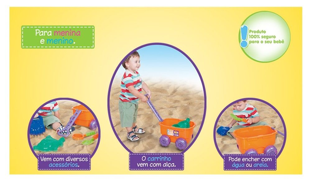 Carrinho de Praia Play Water - Cotiplás