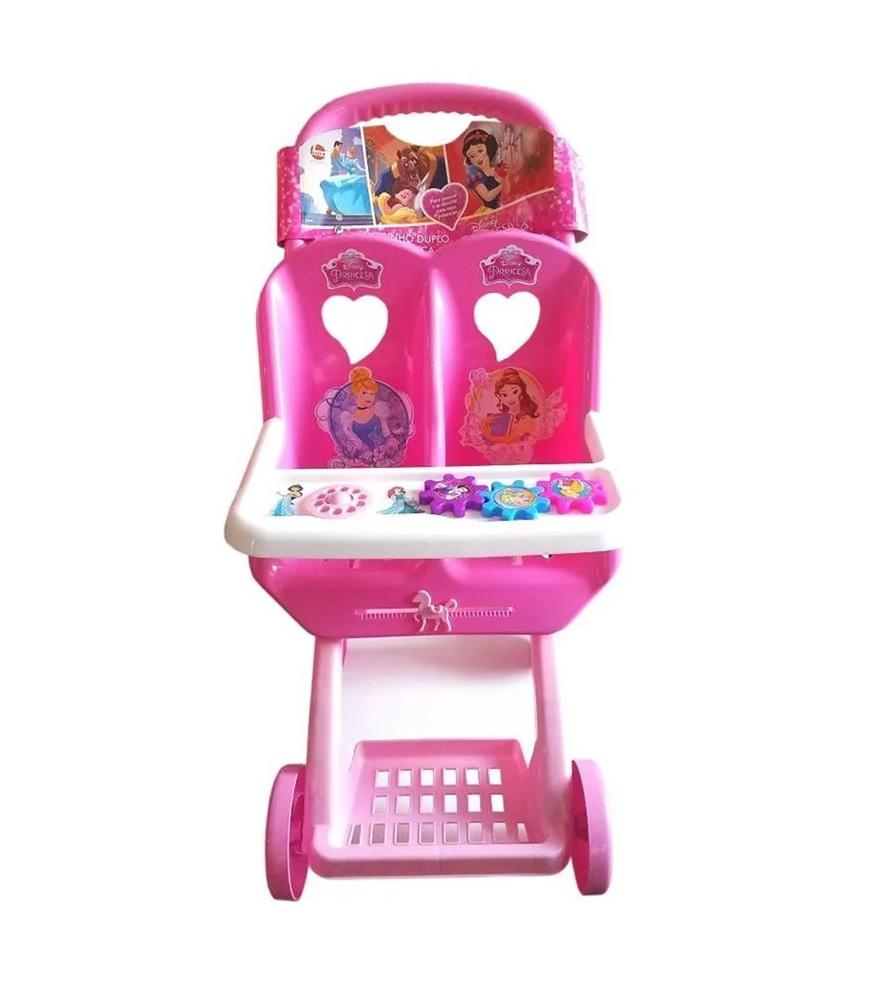Carrinho Duplo de Boneca Disney Princesas Sortidos - Lider Brinquedos