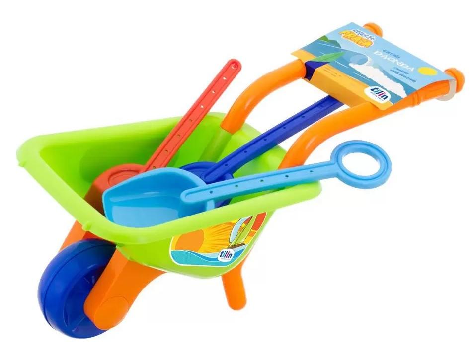 Carriola Da Onda Coleção Praia com Acessórios - Tilin Brinquedos