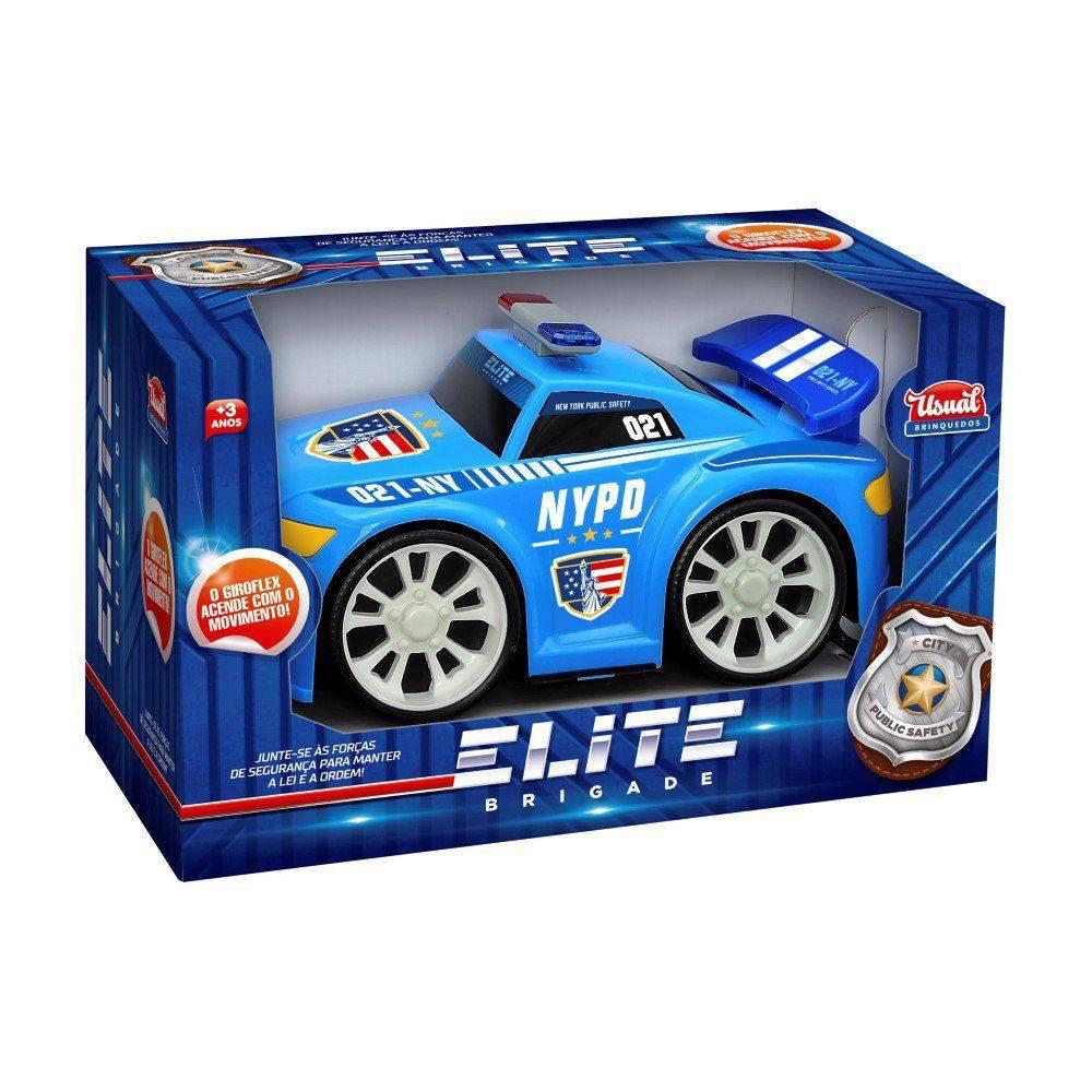 Carro Elite Brigade Polícia com Luz - Usual Brinquedos