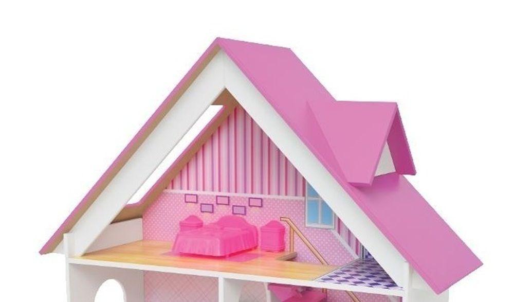 Casinha de Boneca Mobiliada Sweet Home em Madeira - Junges