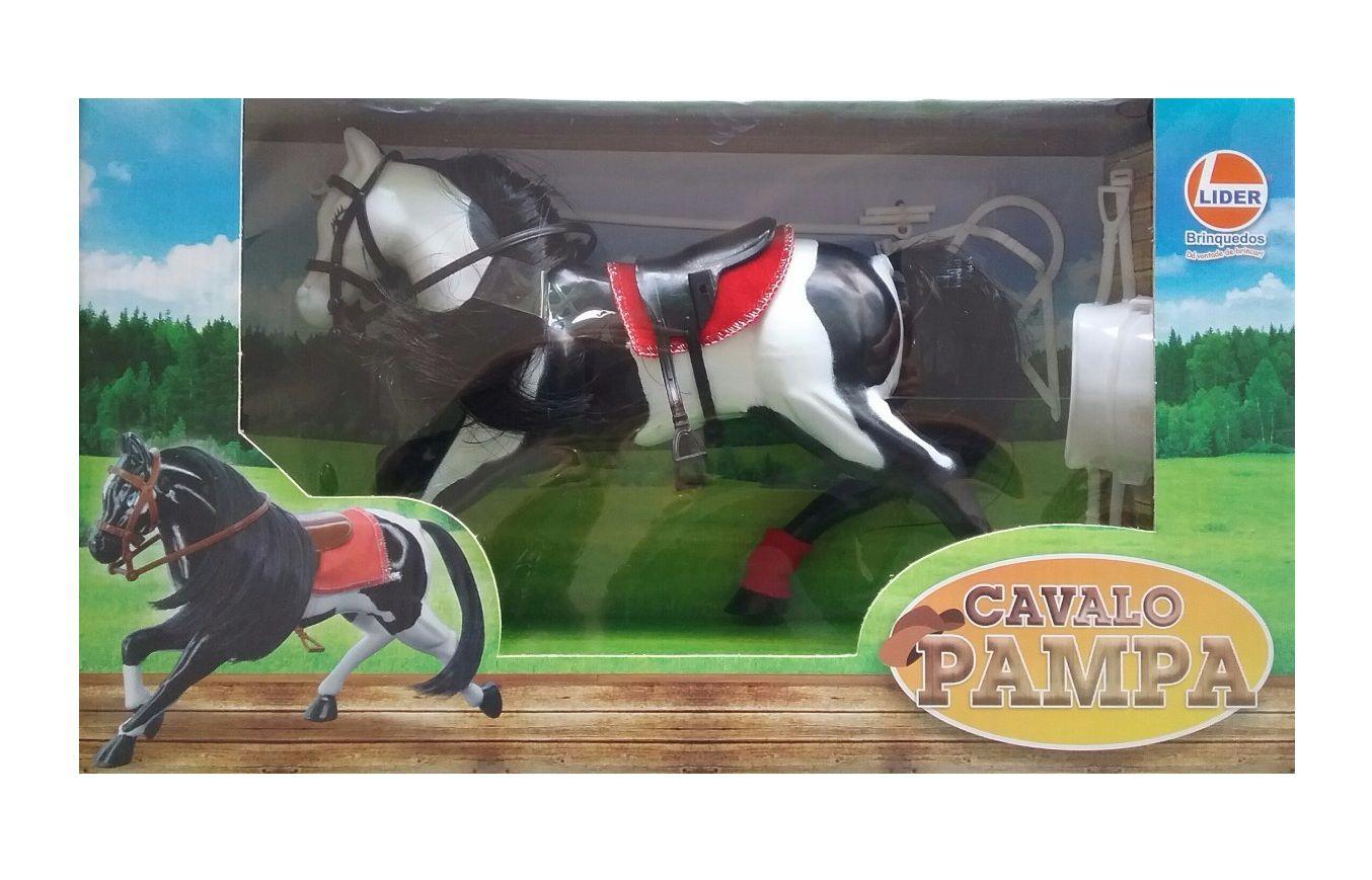 Cavalo Pampa com Acessórios - Lider Brinquedos