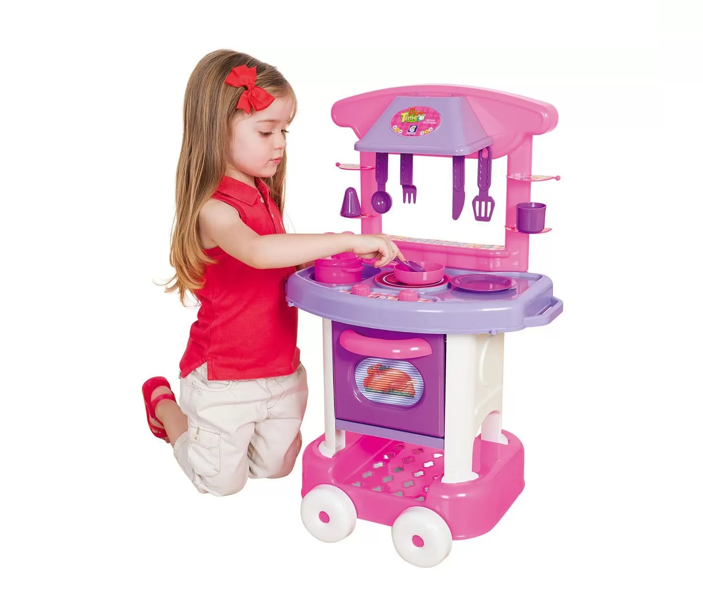 Cozinha da Cotiplás Play Time Rosa - Cotiplás
