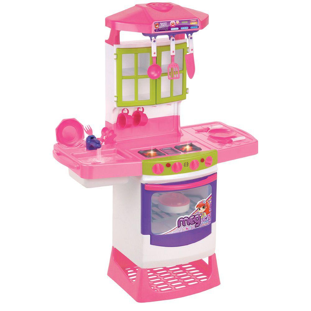 Cozinha Meg Mágica Eletrônica Super - Magic Toys