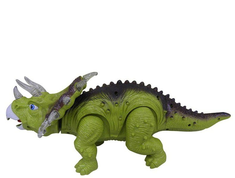 Dinossauro Tricerátopo com Luz e Som - Dm Toys