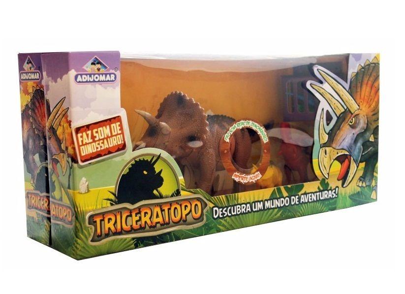 Dinossauro Triceratopo Descubra Um Mundo de Aventuras - Adijomar