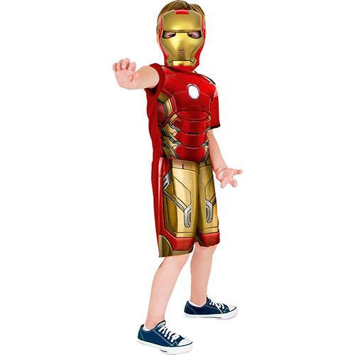 Fantasia Curta Infantil Homem de Ferro Avengers P - Rubies