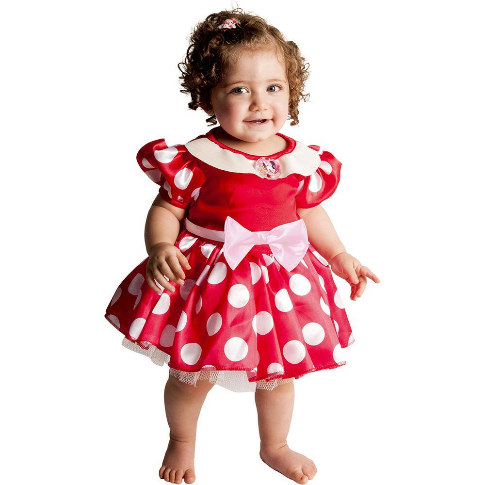 Fantasia Minnie Baby Vermelha U - Rubies