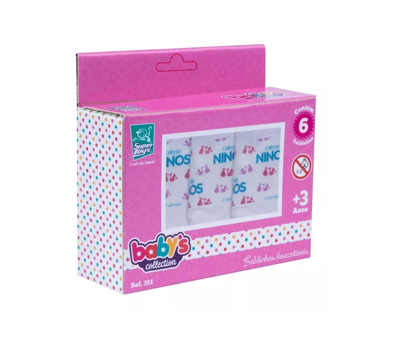 Fraldinhas Descartáveis Baby's Collection com 6 - Super Toys