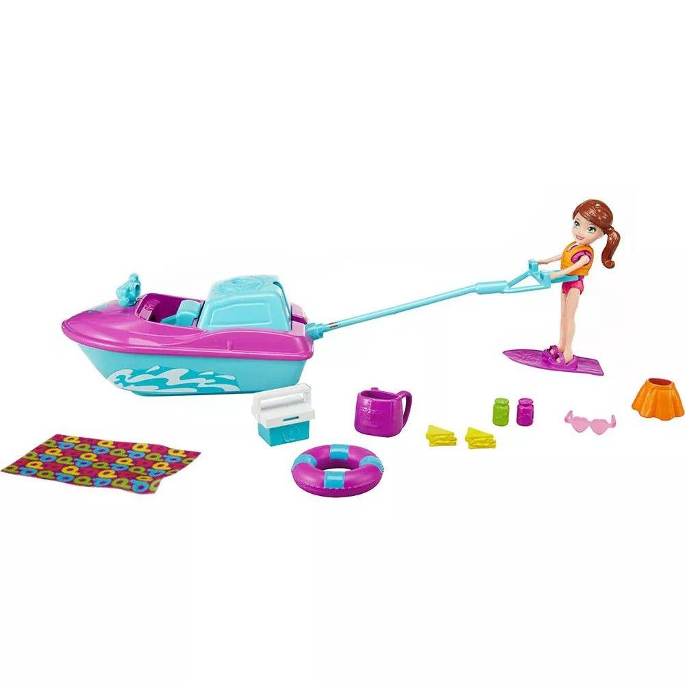 Boneca Polly Pockt Jet Ski de Férias da Polly - Mattel