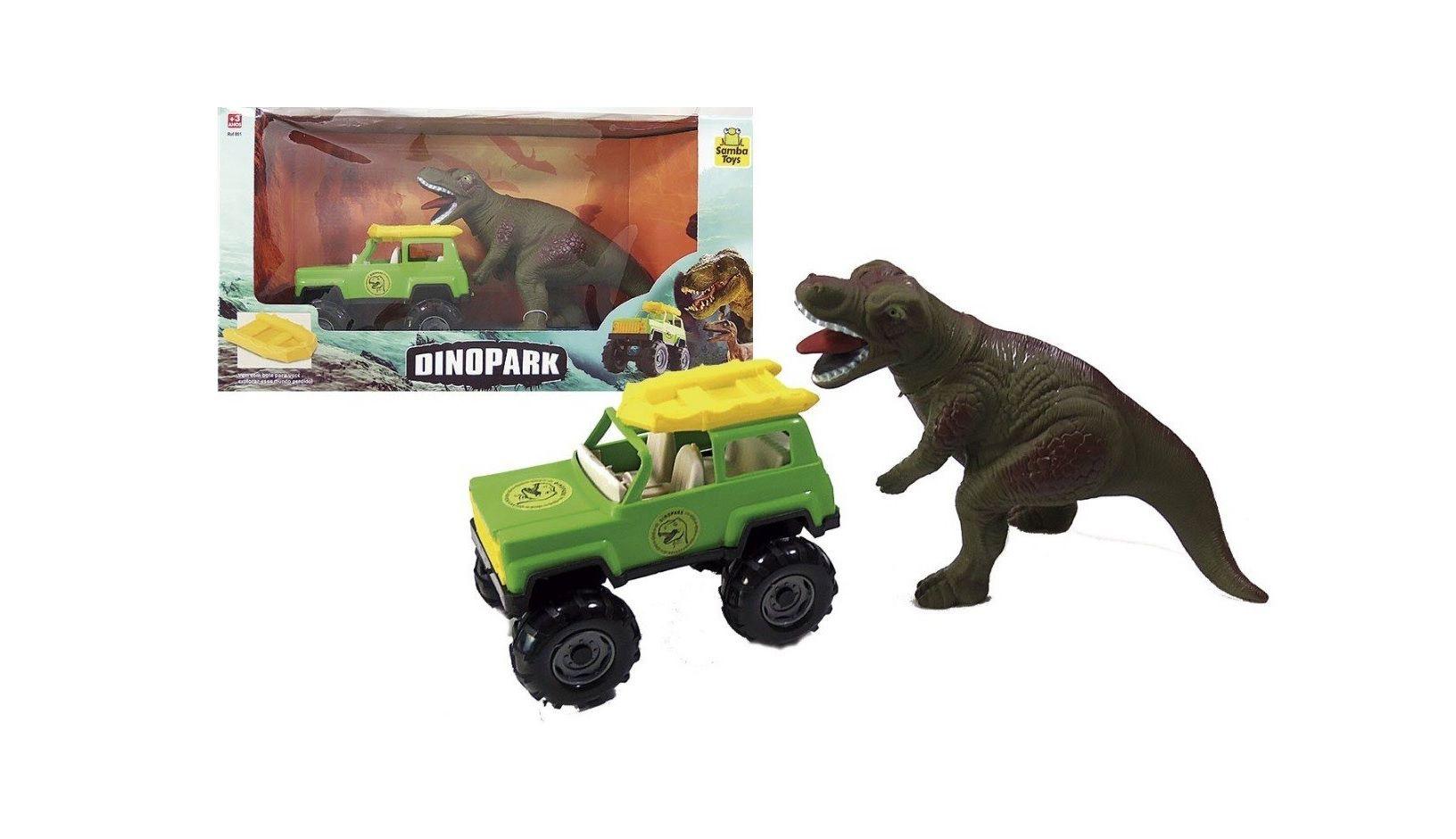 Jipe Dinopark com Dinossauro - Samba Toys