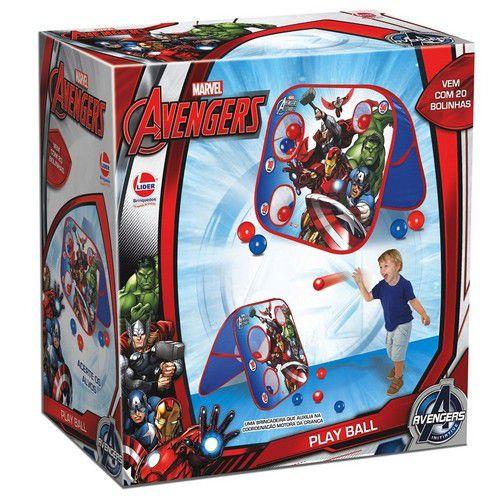 Jogo Acerte o Alvo Play Ball Avengers com 20 Bolinhas - Lider Brinquedos