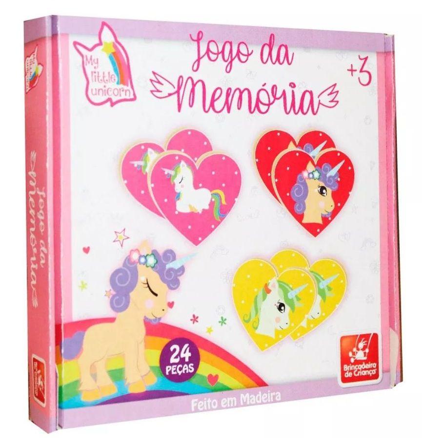 Jogo da Memória Meu Pequeno Unicórnio em Madeira - Brincadeira de Criança
