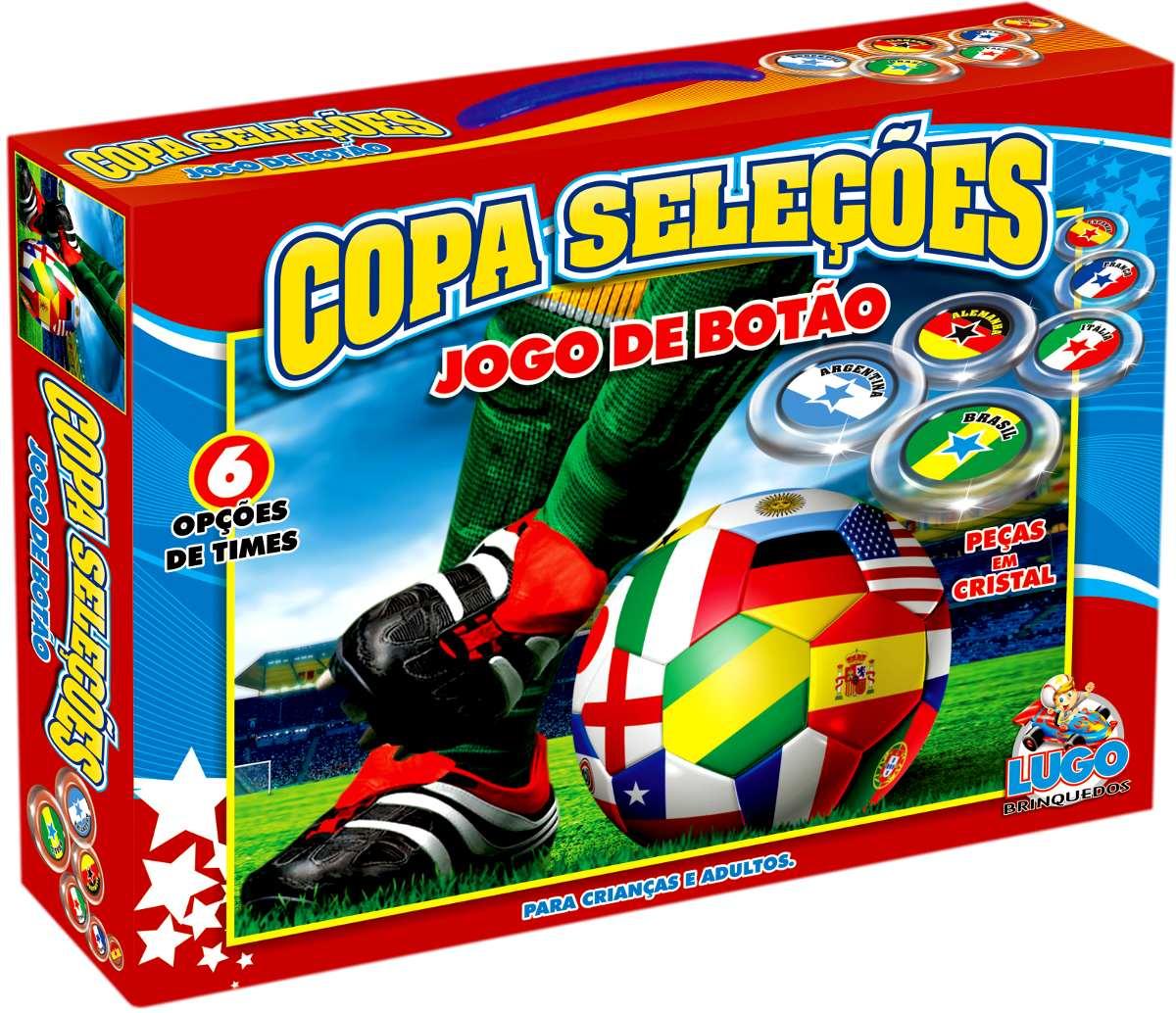 Jogo de Botão Copa Seleções - Lugo Brinquedos