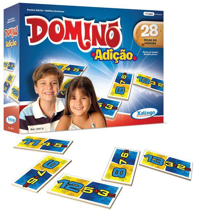 Jogo Dominó Adição 28 peças - Xalingo