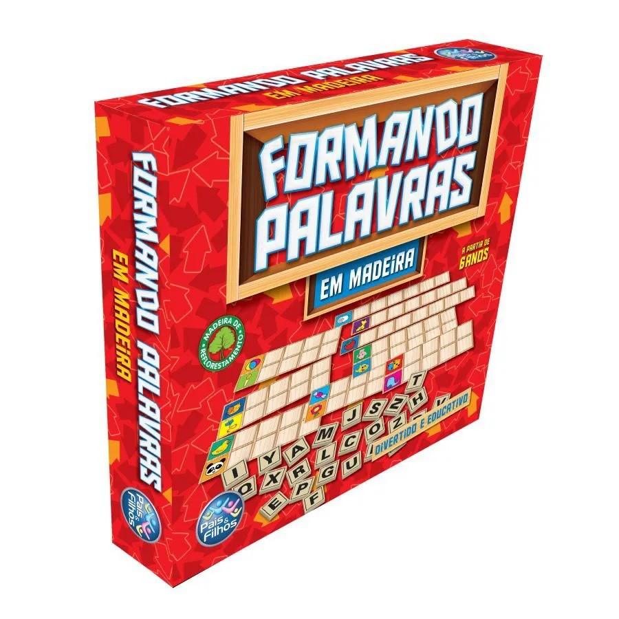 Jogo Formando Palavras em Madeira - Pais e Filhos