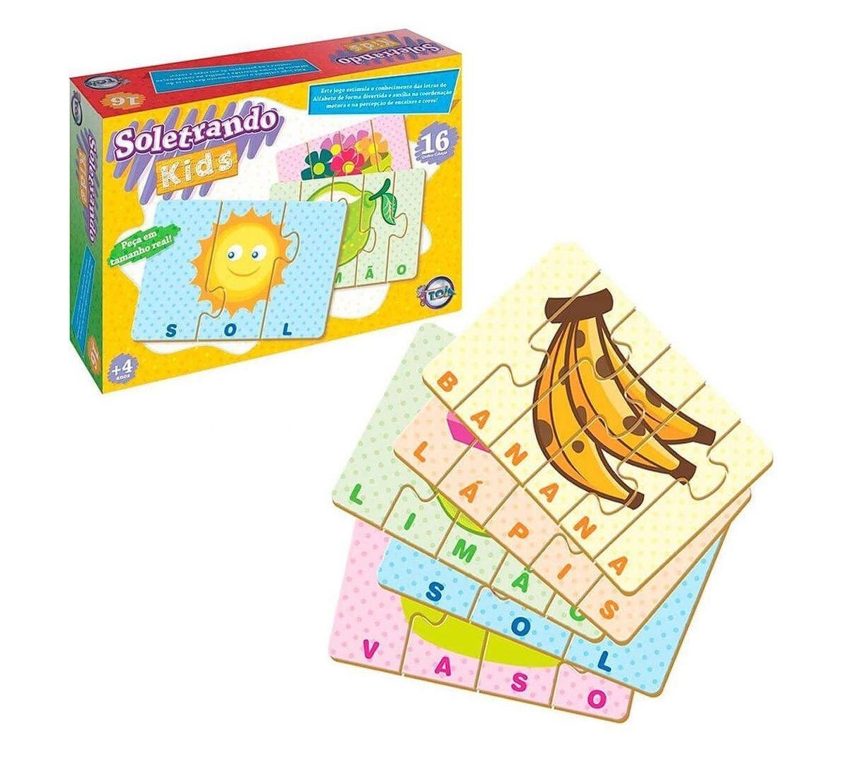 Jogo Soletrando Kids - Toia Brinquedos