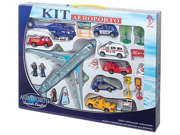 Kit Aeroporto Conjunto Completo - Fenix Brinquedos