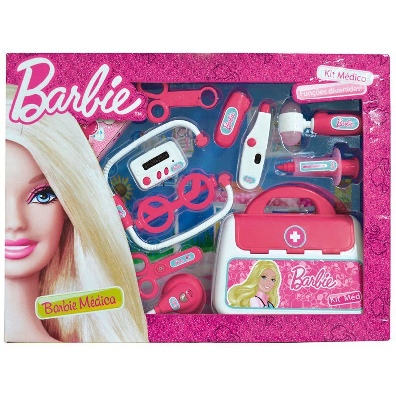 Kit Barbie Médica Acessórios de Médico - Fun