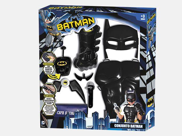 Kit Batman com comunicador e lanterna - Rosita