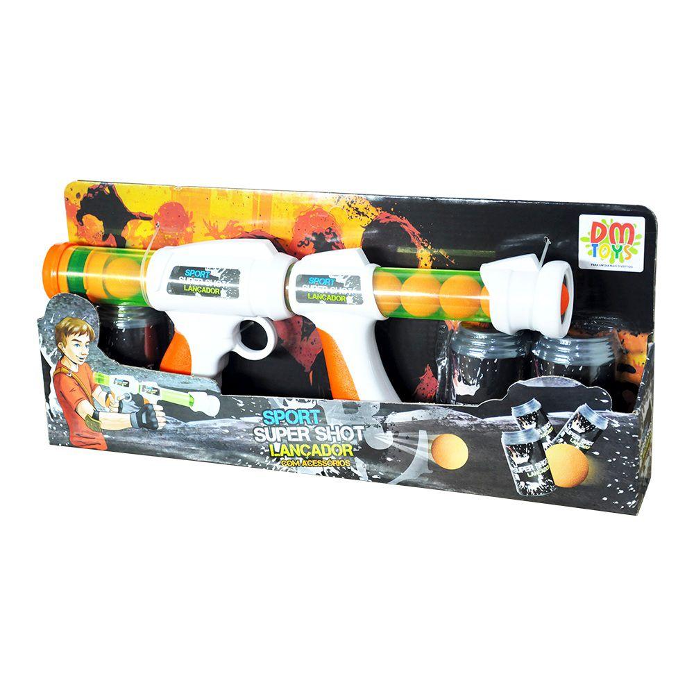 Lançador de Bola de Espuma Super Shot Sport com Acessórios - Dm Toys