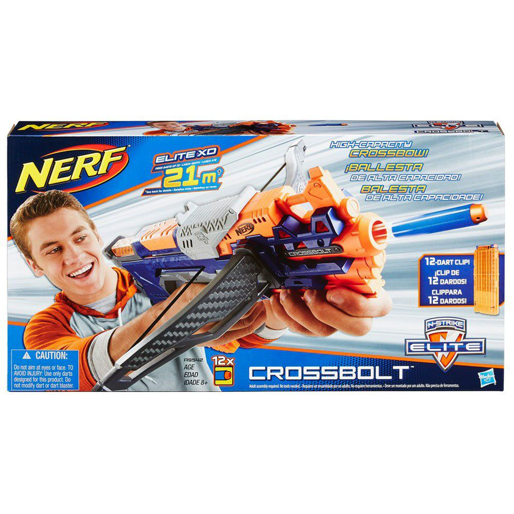 Lançador de Dardos Nerf N-Strike Elite Crossbolt - Hasbro