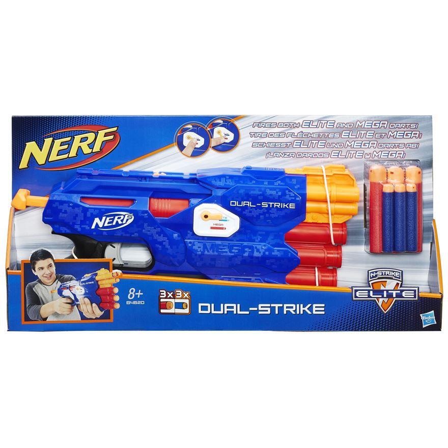 Lançador de Dardos Nerf N-Strike Elite Dual-Strike - Hasbro