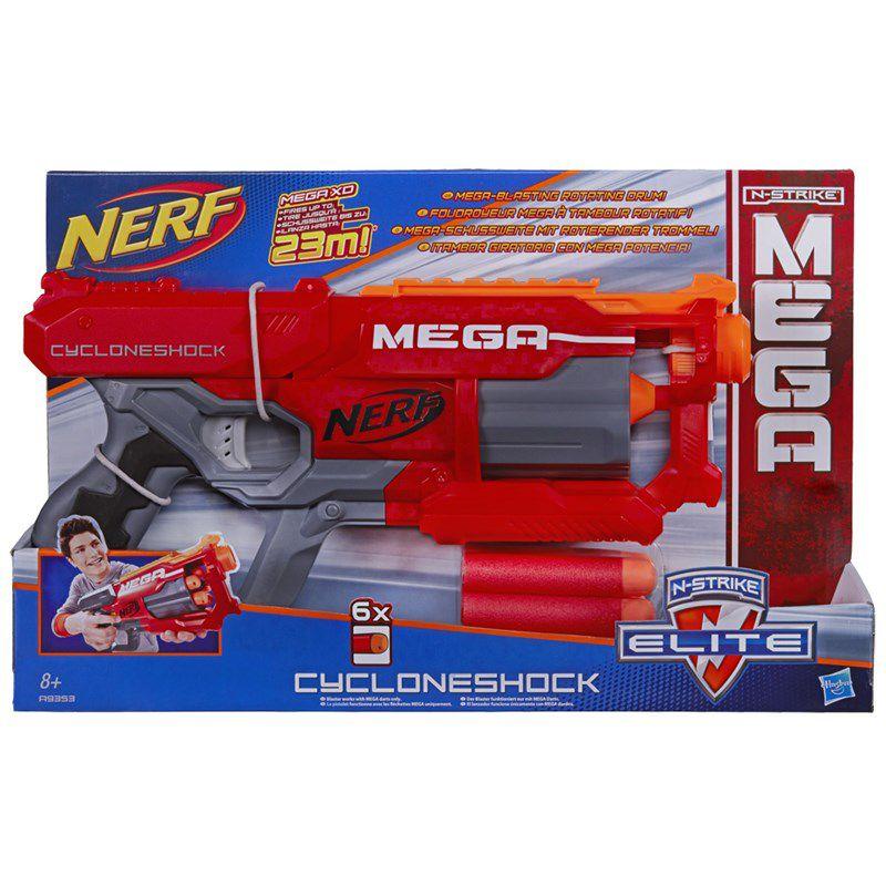 Lançador de Dardos Nerf N-Strike Mega Cycloneshock - Hasbro
