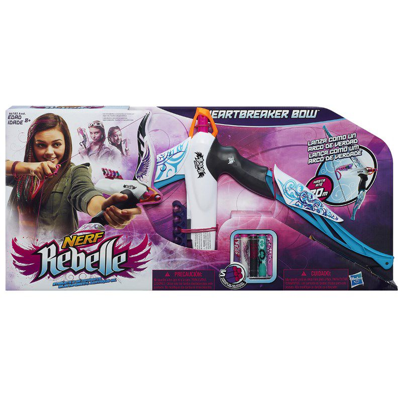 Lançador de Dardos Nerf Rebelle Heartbreaker Bow Vine - Hasbro