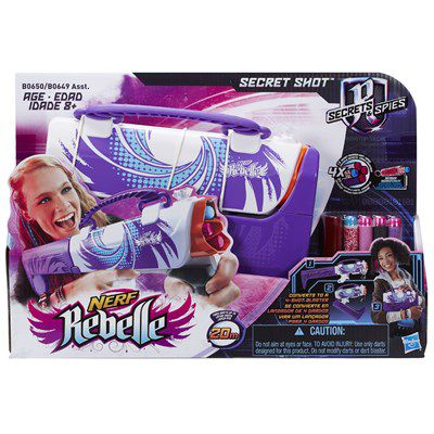 Lançador de Dardos Nerf Rebelle Secret Shot Purple - Hasbro
