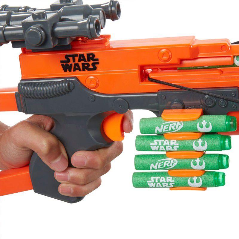 Lançador de Dardos Nerf Star Wars Episódio VII Chewbacca Bowcaster - Hasbro