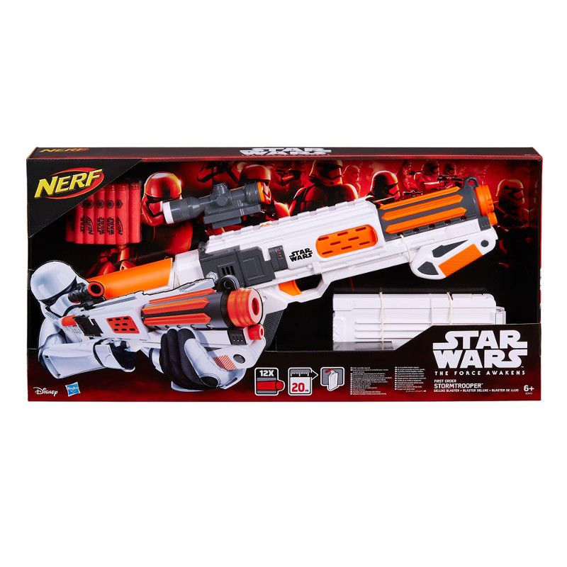Lançador de Dardos Nerf Star Wars First Order Stormtrooper Deluxe Blaster - Hasbro