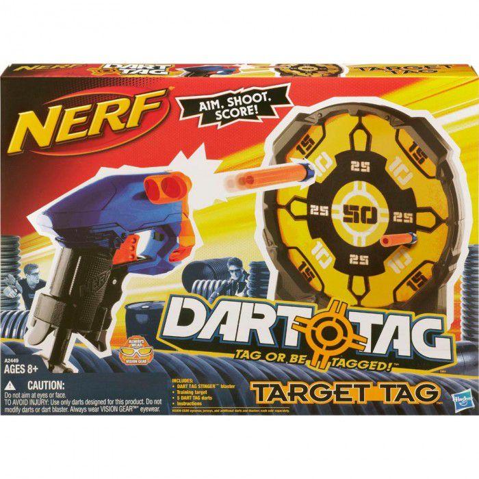 Lançador de Dardos Nerf Target Tag Azul e Laranja - Hasbro