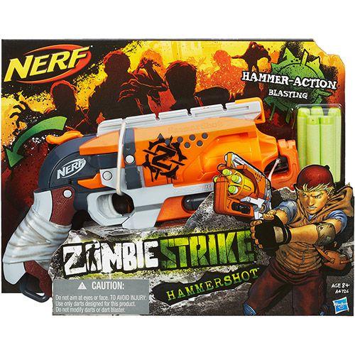 Lançador de Dardos Nerf Zombie Hammershot - Hasbro