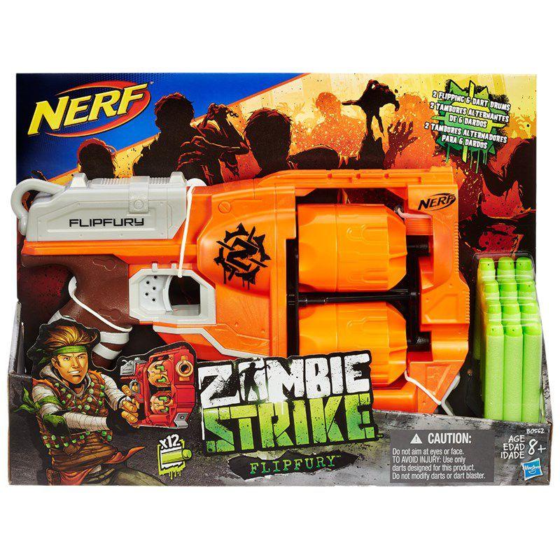 Lançador de Dardos Nerf Zombie Strike Flipfury - Hasbro