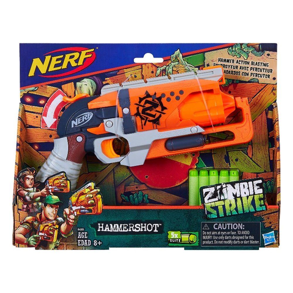 Lançador de Dardos Nerf Zombie Strike Hammershot - Hasbro