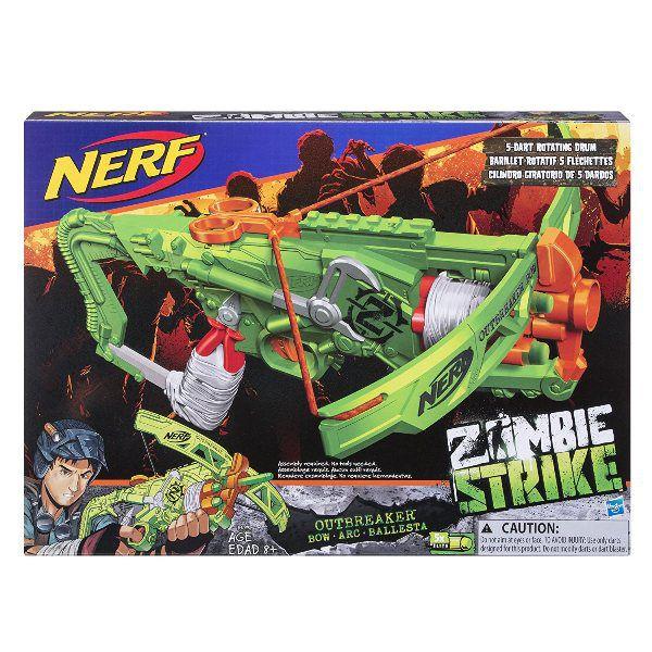 Lançador de Dardos Nerf Zombie Strike Outbreaker Balestra - Hasbro
