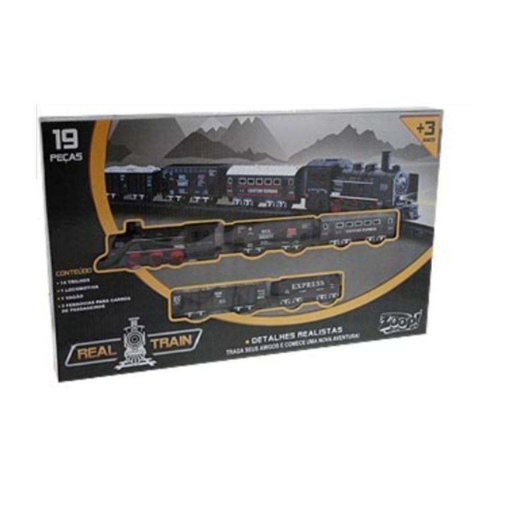 Locomotiva Real Train 19 Peças - Zoop Toys