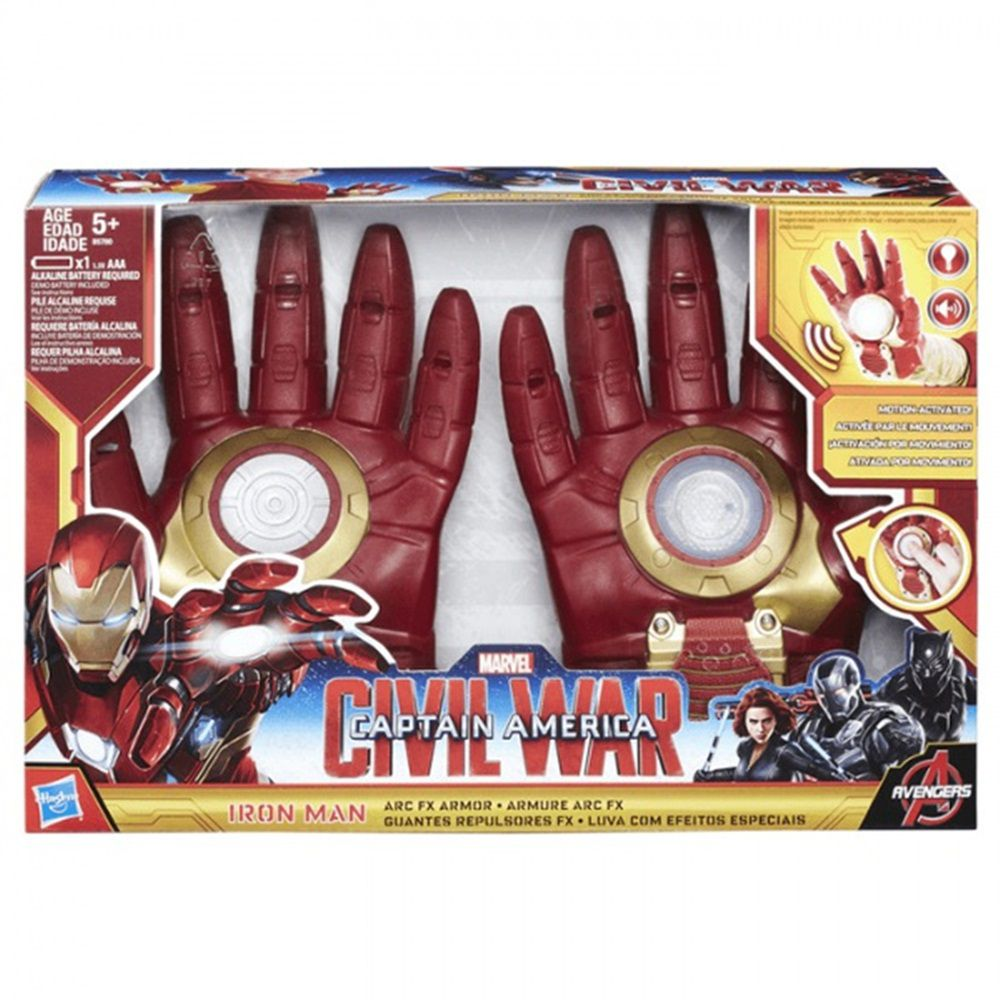 Luva com Efeitos Especiais Avengers Homem de Ferro Guerra Civil - Hasbro