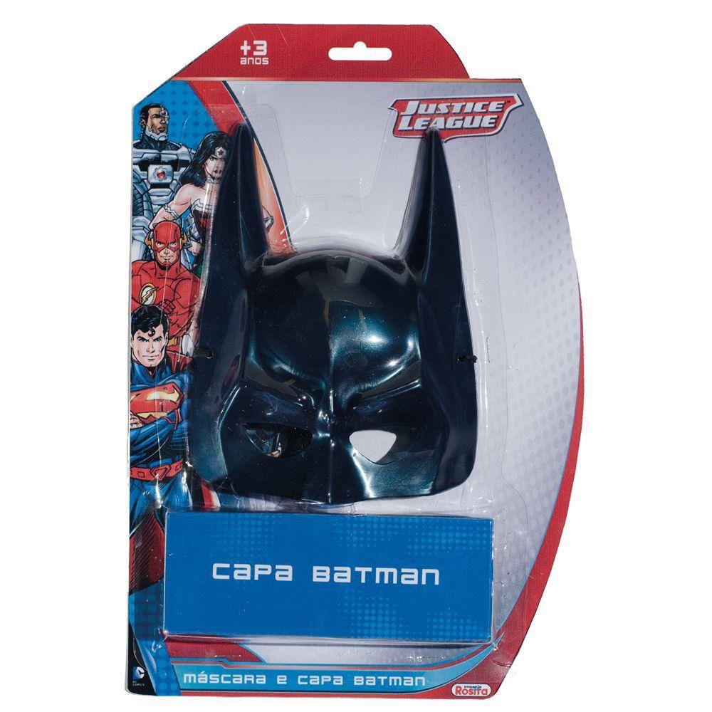 Máscara e Capa Batman Liga da Justiça - Rosita