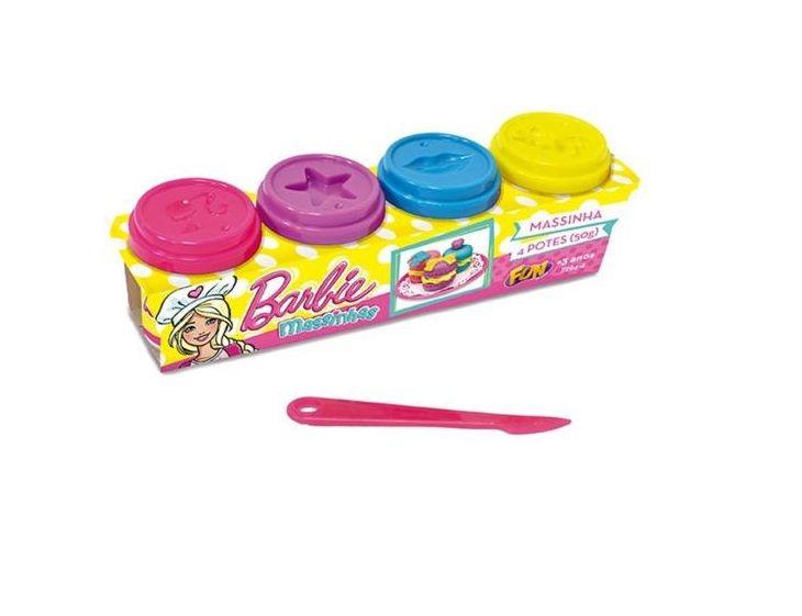 Massinha Barbie 4 Potes - FUN